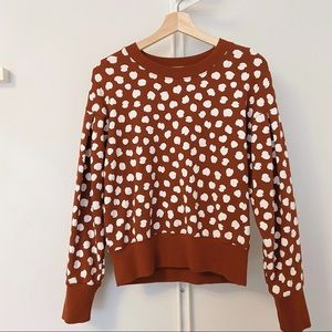 MADEWELL Leopard Dot Sweatshirt (NWOT)